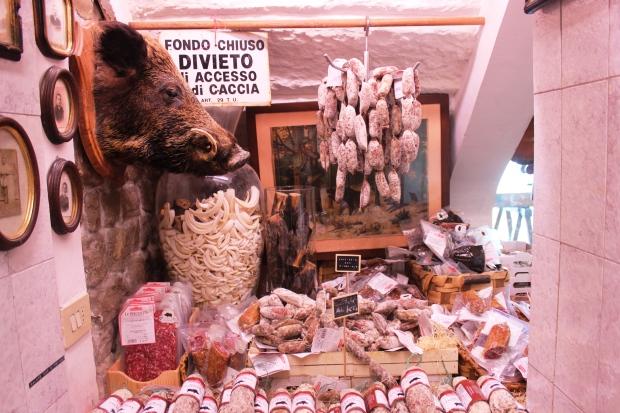 E Salumi Tipici, loja com produtos típicos da Toscana