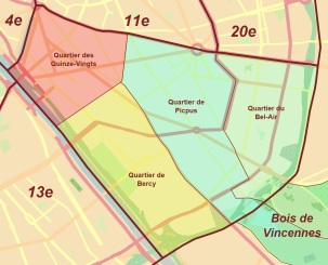Quartiers do 12e arrondissement de Paris