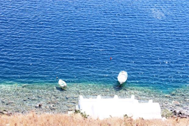 Barquinhos em Santorini