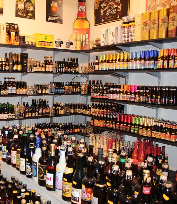 Loja de cervejas em Bruges