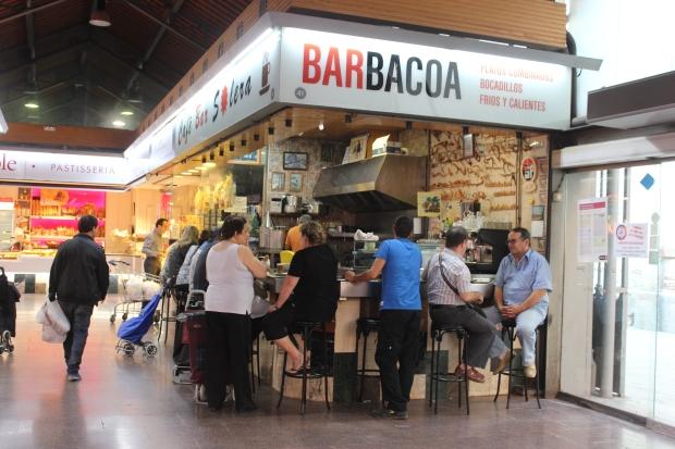 Barbacoa, localizado no Mercat La Concepció