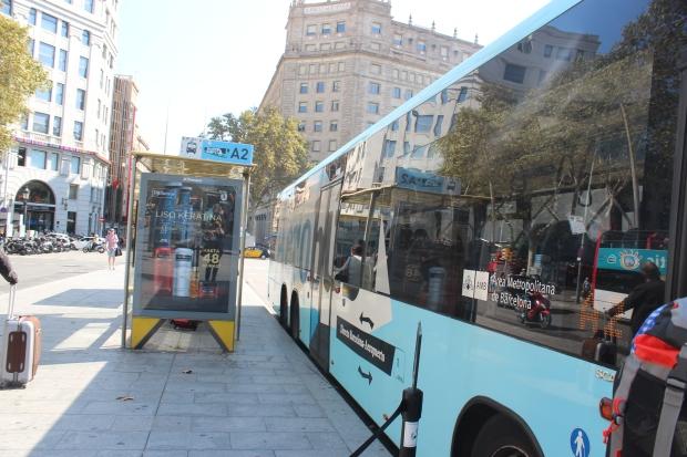 Parada do Aerobus da Praça de Catalunya
