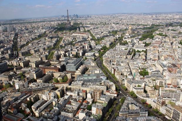 Vista panorâmica de Paris à partir da Torre de Montparnasse